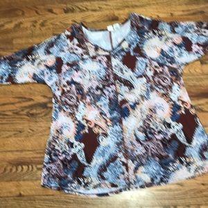 Paisley pattern shirt 1x